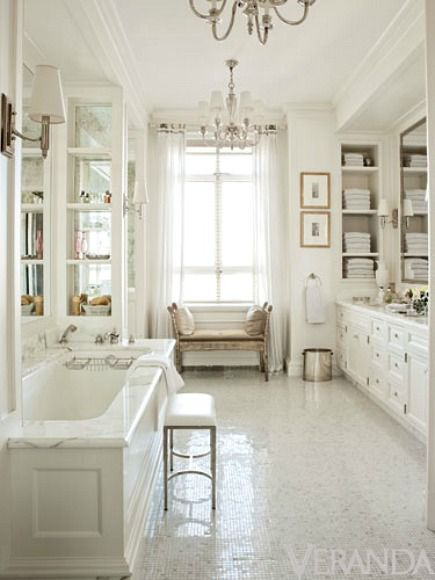 5 Ways to Get This Look:  Elegant White Bath