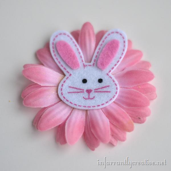 bunny hair clips