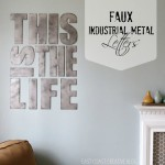 faux industrial metal letters beauty