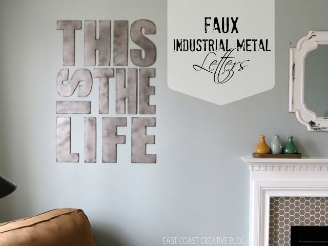 Rooms: Industrial Metal Letters {Faux Painting}