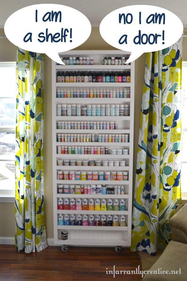 Paint Shelf with Hidden Door - Infarrantly Creative