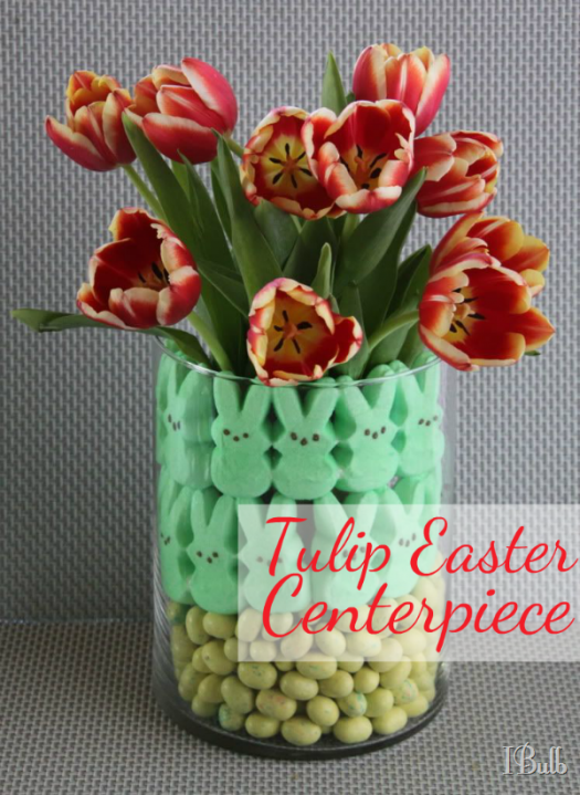 Easter Tulip Centerpiece