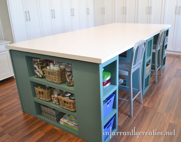 Large craft table for Craft desk with storage