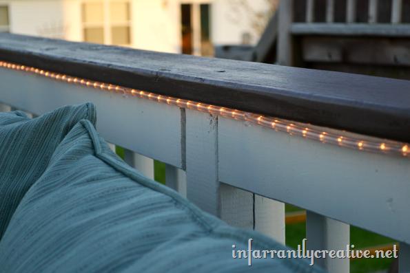 Rope Lights Outdoor Deck : Outdoor Deck Lighting - Infarrantly Creative
