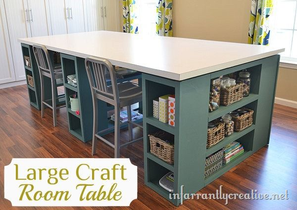 Large craft table for Building a craft room