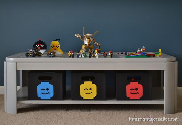 Lego table the 21 best lego storage tables - Table basse rangement bouteilles ...