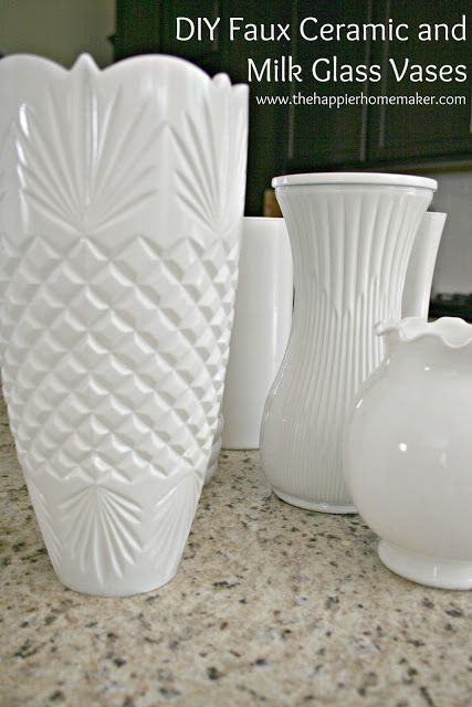 The Happier Homemaker faux milkglass vases