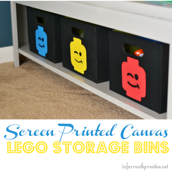 Canvas Lego Bins