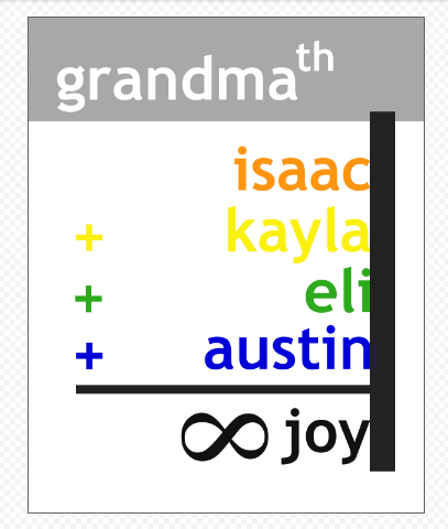 grandma printable
