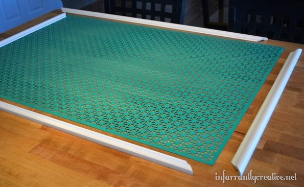 painted aluminum grate with frame