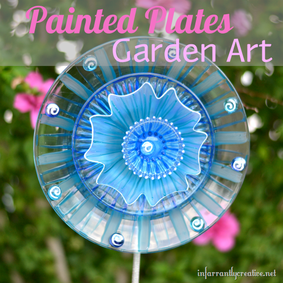 painted plate garden art