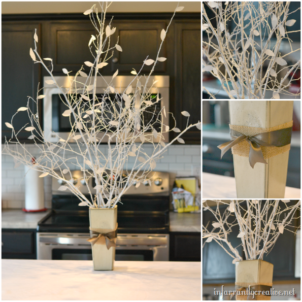 white tree centerpiece