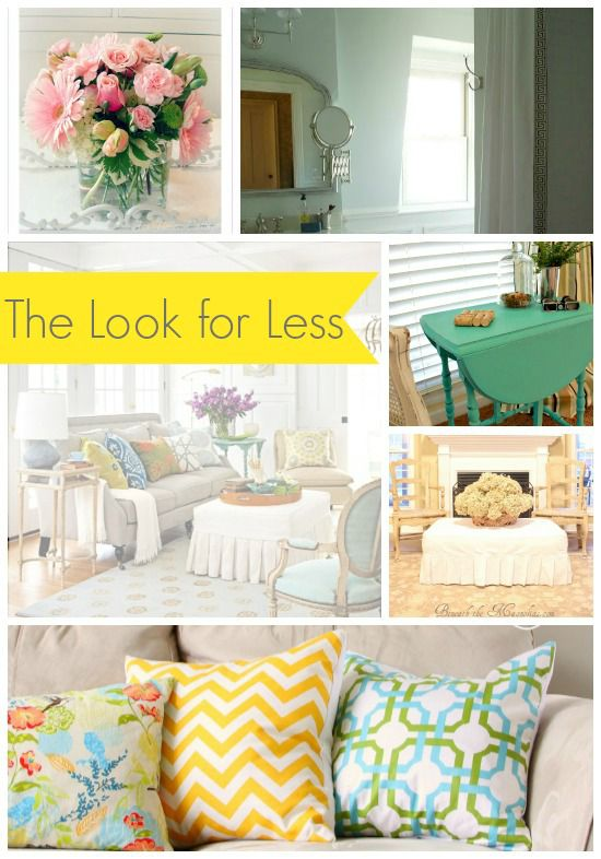 5 ways to get this look summery living room for Living rooms for less
