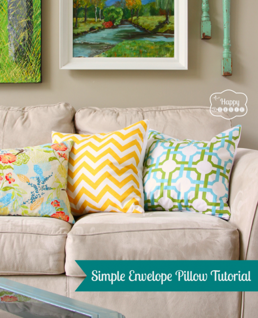 The Happy Housie envelope pillow tutorial
