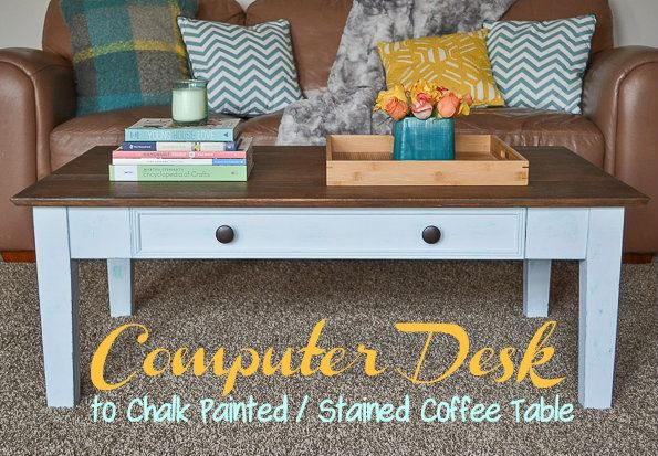 - Computer Desk To Coffee Table {Roadkill Rescue} - Infarrantly Creative