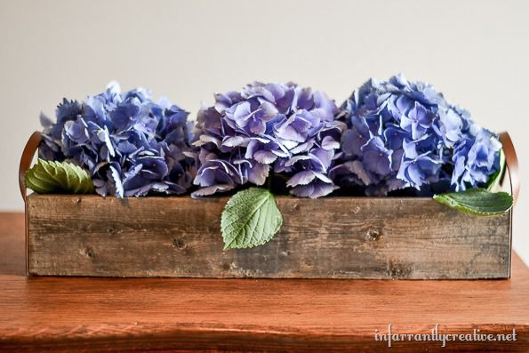 hyrdrangea flower centerpiece