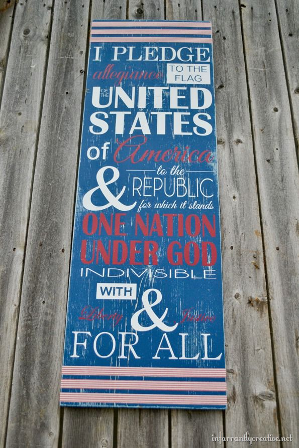 patriotic pledge sign