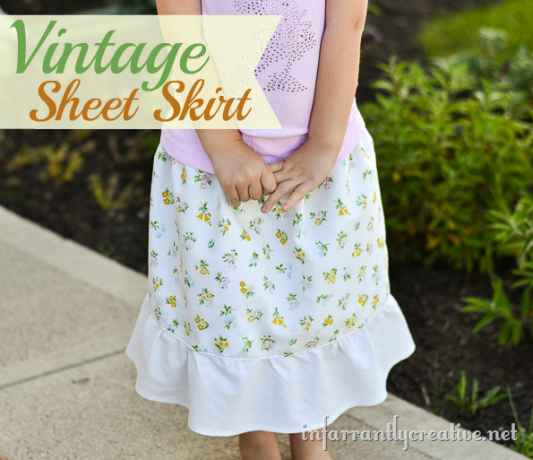 vintage sheeet skirt