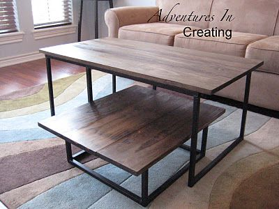 Adventures in Crafting industrial coffee table