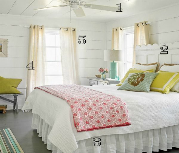 5 Ways to Get this Look:  Beach House Bedroom