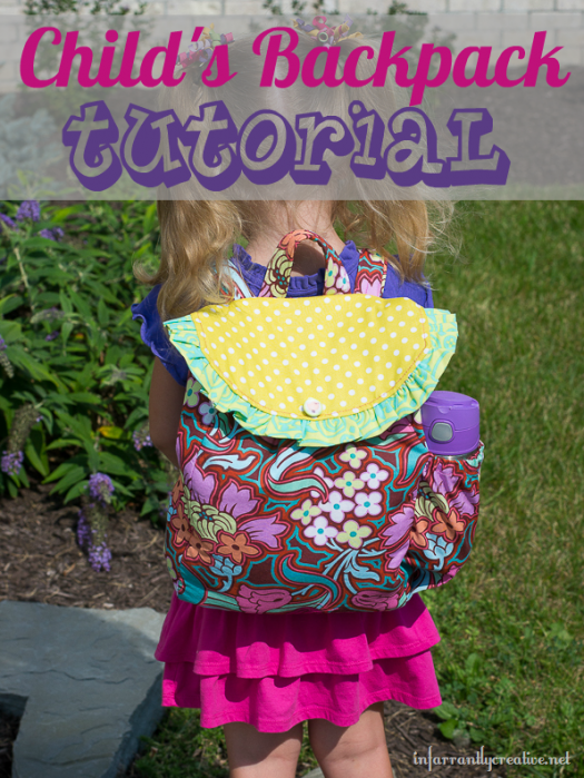 DIY childs backpack tutorial
