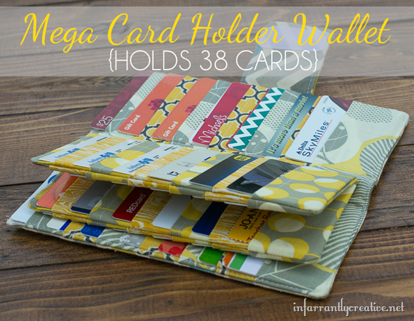 Mega Credit Card Wallet {Sewing Tutorial}