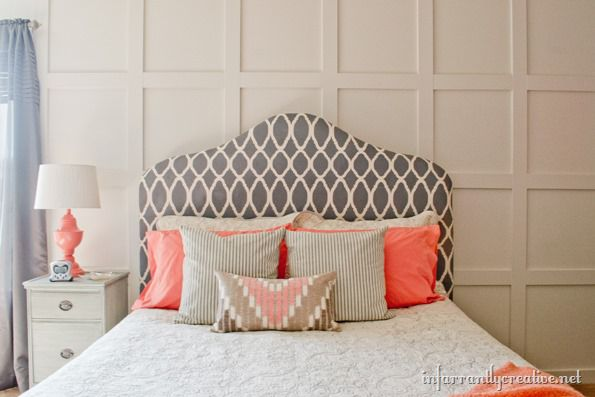 coral gray bedroom makeover room reveal