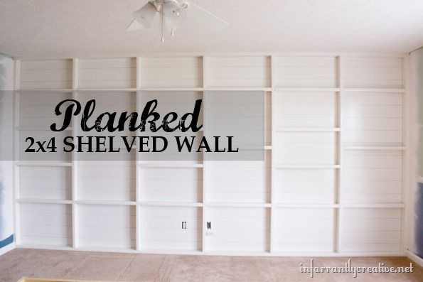 planked and shelved 2 by 4