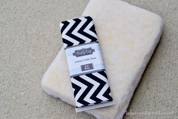 black and white chevron fabric