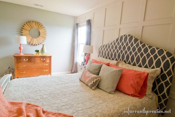 coral gray bedroom makeover room reveal infarrantly