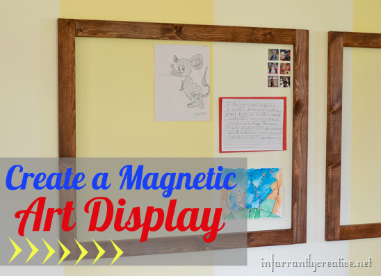 Magnetic Wall for Kid's Art Display
