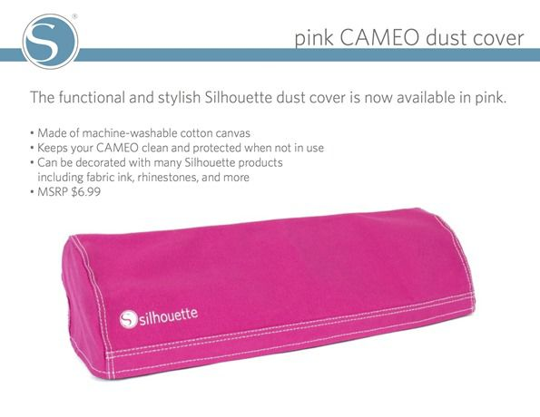 pink CAMEO dust cover