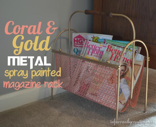 Vintage Metal Magazine Rack Revamp