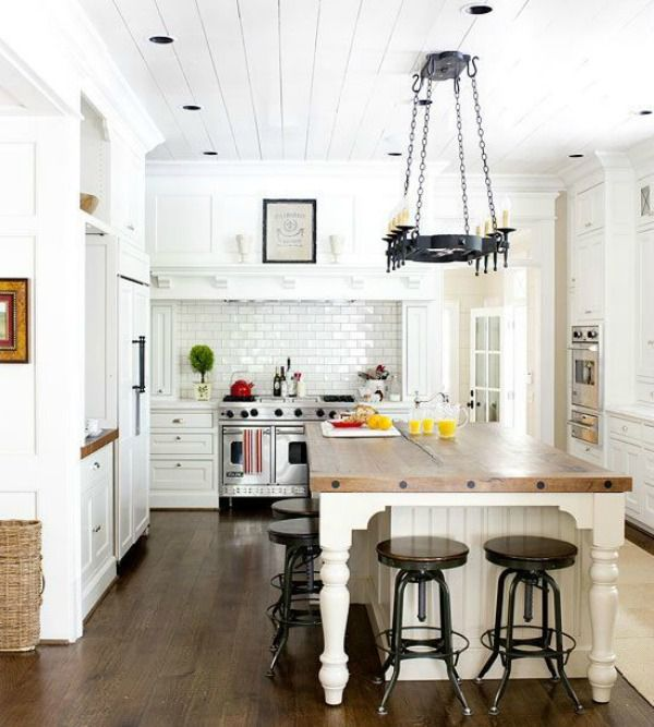 5 ways to get this look dreamy white farmhouse kitchen for Better homes and gardens kitchen island ideas