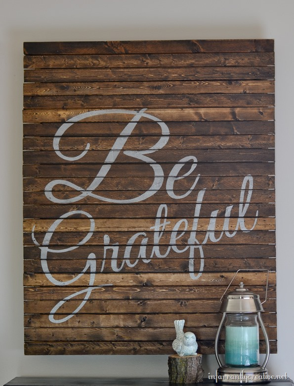 Make Your Own Thanksgiving Be Grateful Pallet Art Infarrantly Creative