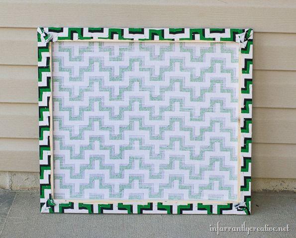 fabric decor on walls