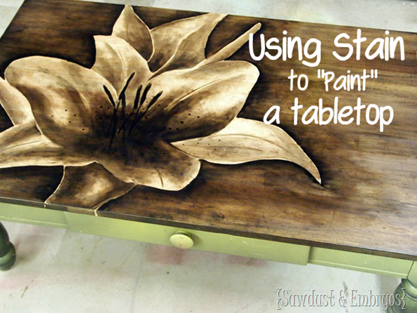 Shade Painting with Stain