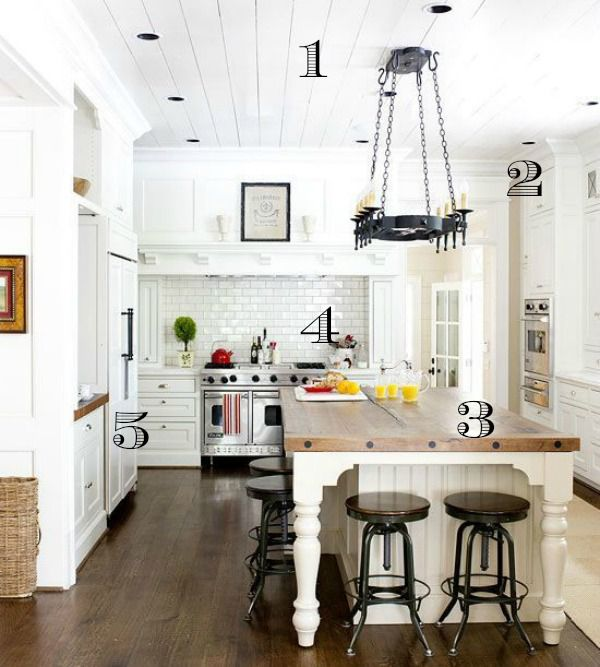 Rustic Farmhouse Kitchen 5 ways to get this look: dreamy white farmhouse kitchen