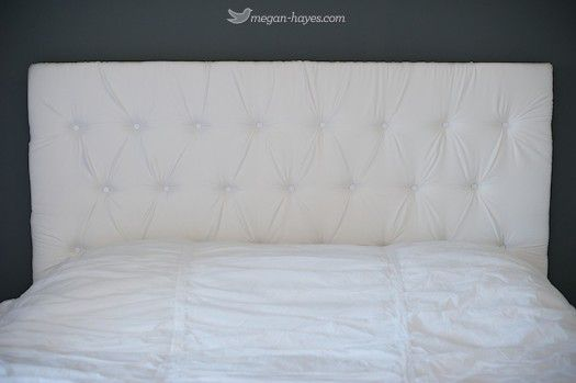Megan Hayes tufted headboard diy