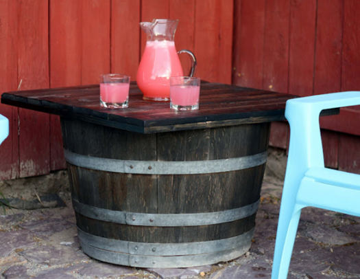 Roadkill Rescue barrel table
