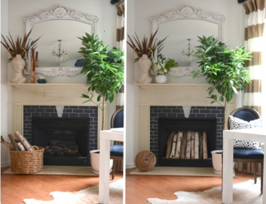 The Nester fireplace decor