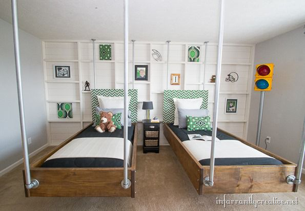 Boys Bedroom Decor Green Amp Black Industrial Room Reveal