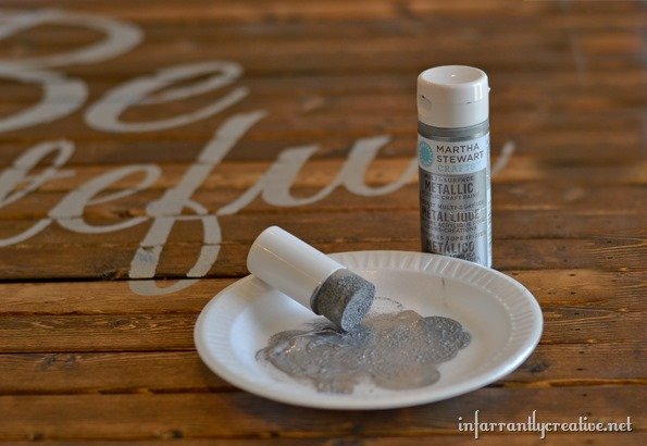followed that up with some sand paper on the edges of each of the ...