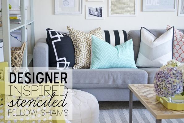 stenciled pillow shams8