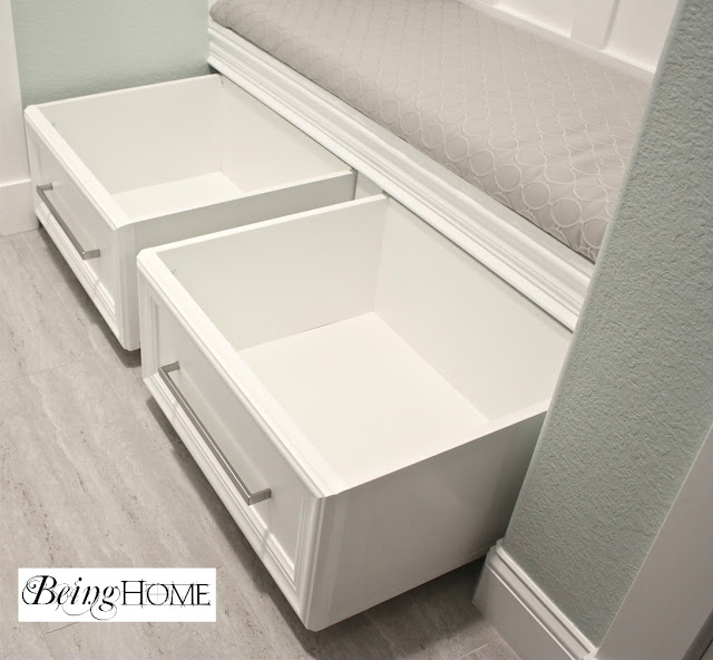 Mudroom Storage Drawers : Ways to get this look farmhouse style staircase