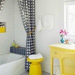Better Homes and Gardens gray and yellow bath