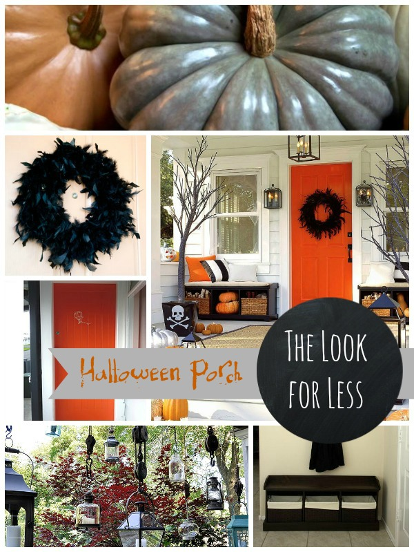 Halloween Porch collage