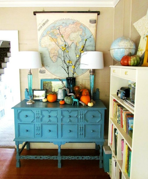 House of Turquoise Fall Vignette Inspiration Photo