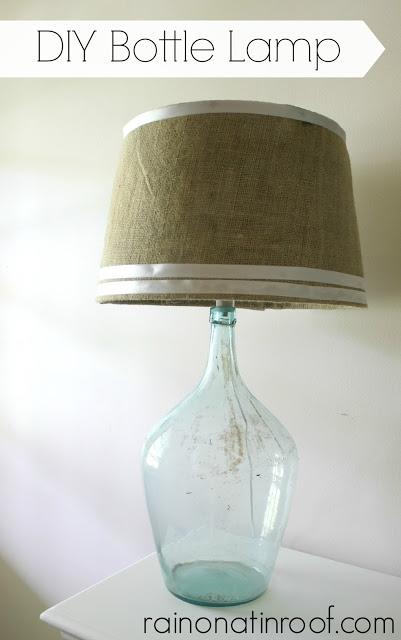 Rain on a Tin Roof bottle lamp
