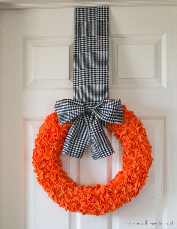 halloween flower wreath